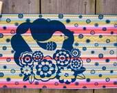 Handprinted Fabric - Stockholm design in stripe