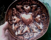 Copper Bowl with Clodagh Hearts
