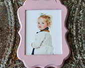 8x10 Whimsical Shabby Chic Distressed Picture Frame - Pink- Choose your color ......HANDMADE