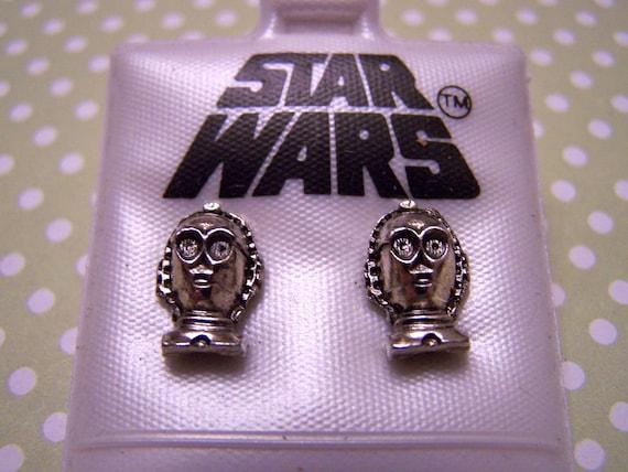 Vintage Star Wars C3PO Earrings