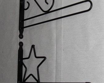 Small Flag Double Bar Holders