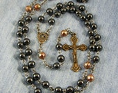 FREE SHIPPING Hematite, Bronze, Copper & Sterling, Stainless Steel Wire Rosary