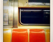 f train subway abstract 5x5 photographic print