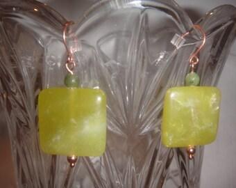 """Agate """"Jade"""" Earrings"""