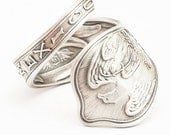 Vintage Mexico Souvenir Sterling Silver Spoon Ring, Handmade in Your Size (465)