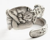 Spoon Ring Exclusive Art Nouveau Poseidon Sterling Silver, Handcrafted in Your Size (822)