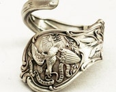 RESERVED FOR rubysgirl55 Spoon Ring Sterling Silver Vintage Illinois Souvenir,  Handmade in Your Size (1416)