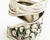 Spoon Ring Unique Lily of the Valley Art Nouveau Sterling Silver, Handcrafted in Your Size (1604)