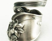 Spoon Ring Antique Violet Sterling Silver by Gorham, Handmade in Your Size (2187)