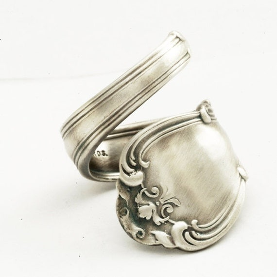 spoon ring unique organic scroll sterling by