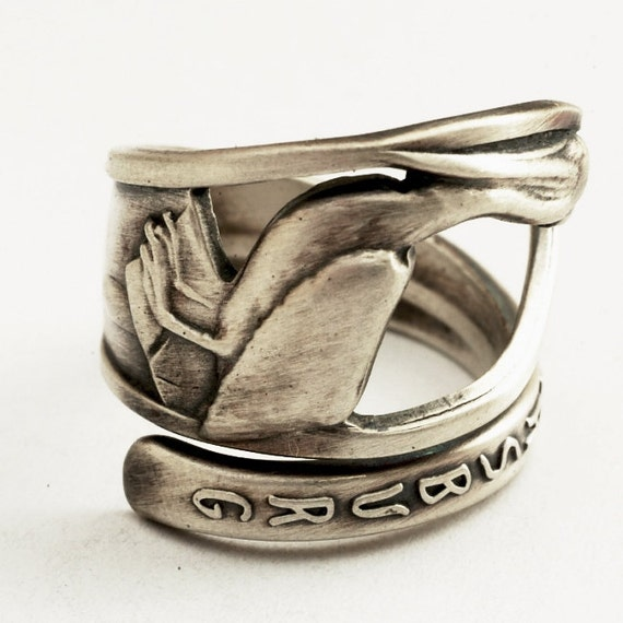 Spoon Ring St. Petersburg Pelican Souvenir Sterling Silver Ring, Made in Your Size (2125)