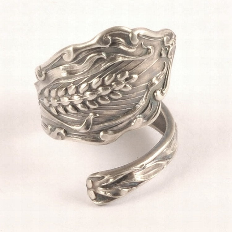 ode to wheat sterling silver spoon ring made in your by