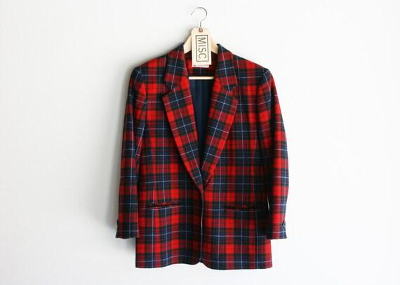 Vintage Pendleton Red Plaid Blazer