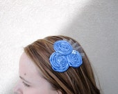 Rolled Rosette Hair Clip Periwinkle