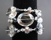 Swarovski Crystal, Glass and Sterling Silver Danielle Wrap