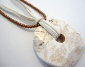 Cream Stone Pendant Necklace