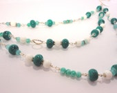 Teal Multi-Strand Necklace