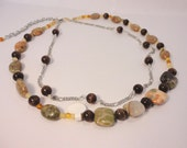 25% OFF Autumn Jasper Double Stranded Necklace