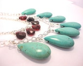 Turquoise and Garnet Layered Necklace