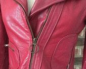 Vintage Hot Pink Leather Jacket