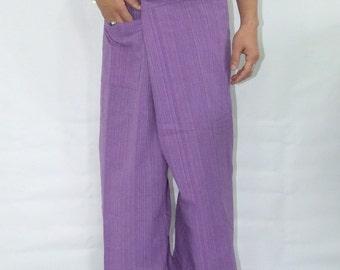 100% strip cotton thai fishermanpants handmade by my mum long legs style 034