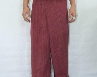 100% strip cotton thai fishermanpants handmade by my mum long legs style 037