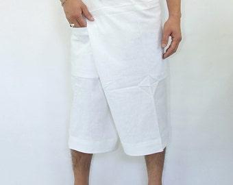 100% cotton thai fishermanpants handmade by my mum short 3/4 legs style 002S