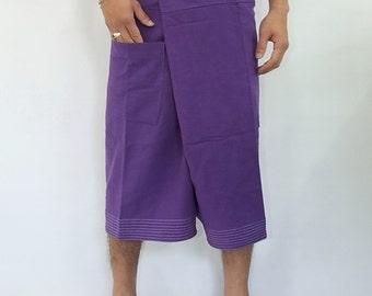 100% cotton thai fishermanpants handmade by my mum short 3/4 legs style 009S