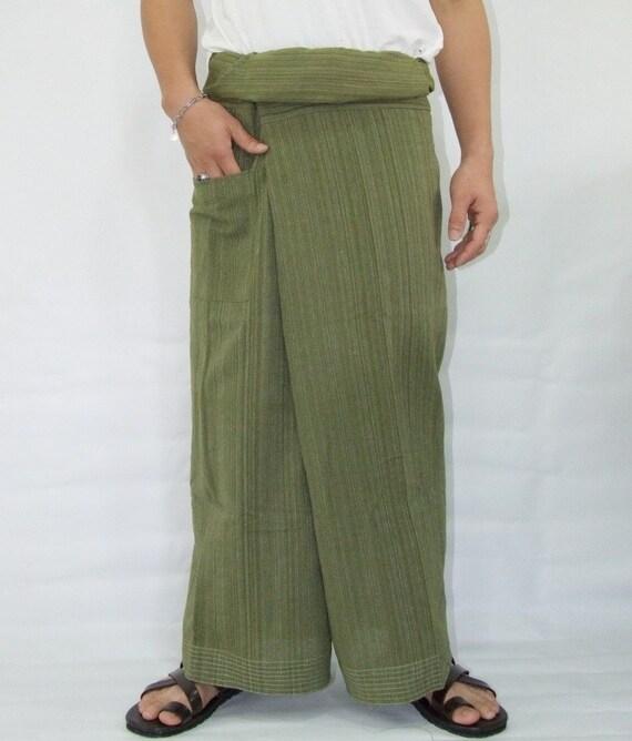 100% strip cotton thai fishermanpants handmade by my mum long legs style 031