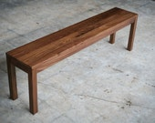Solid Walnut Parsons Bench - Customizable