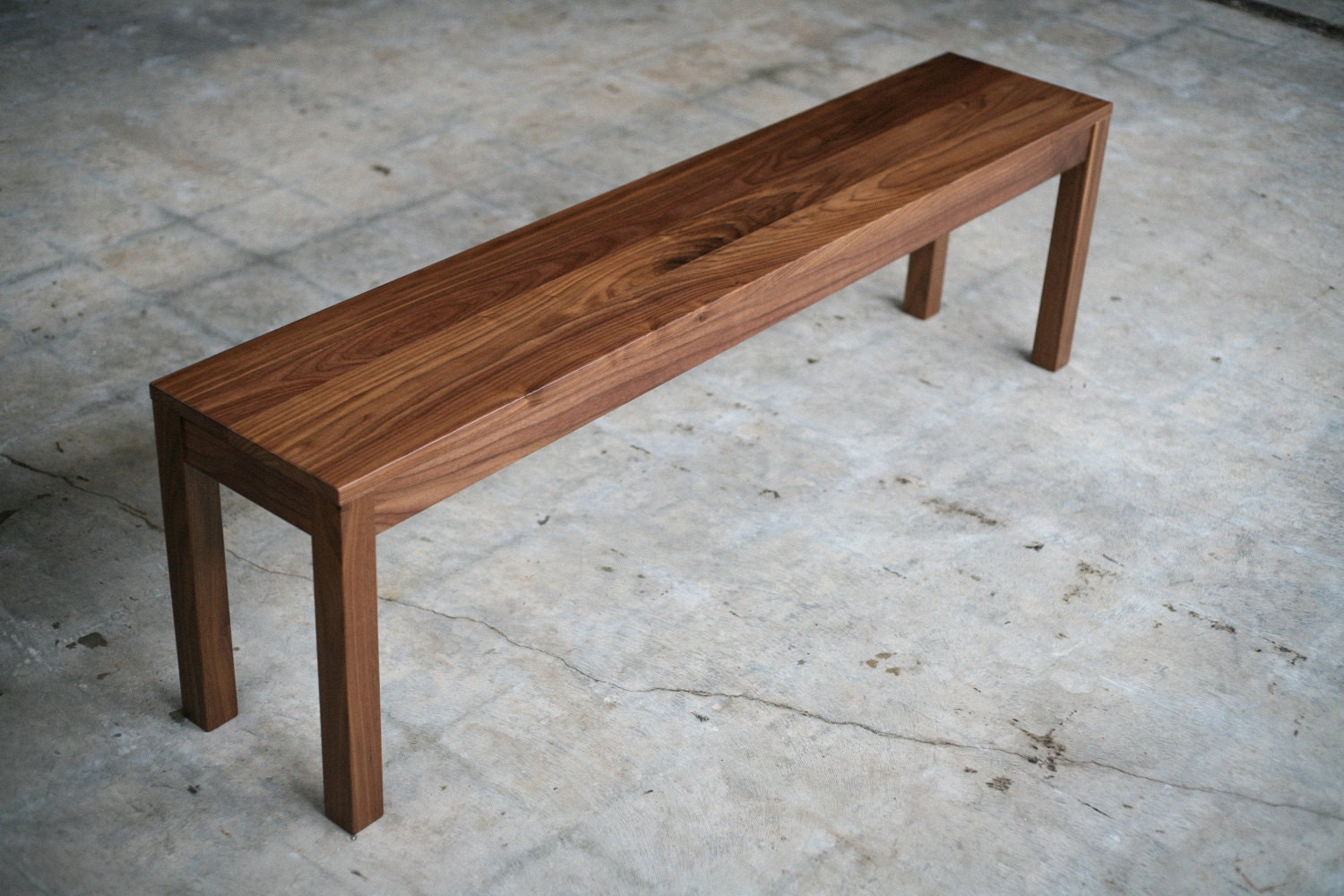 solid walnut parsons bench customizable - 🔎zoom