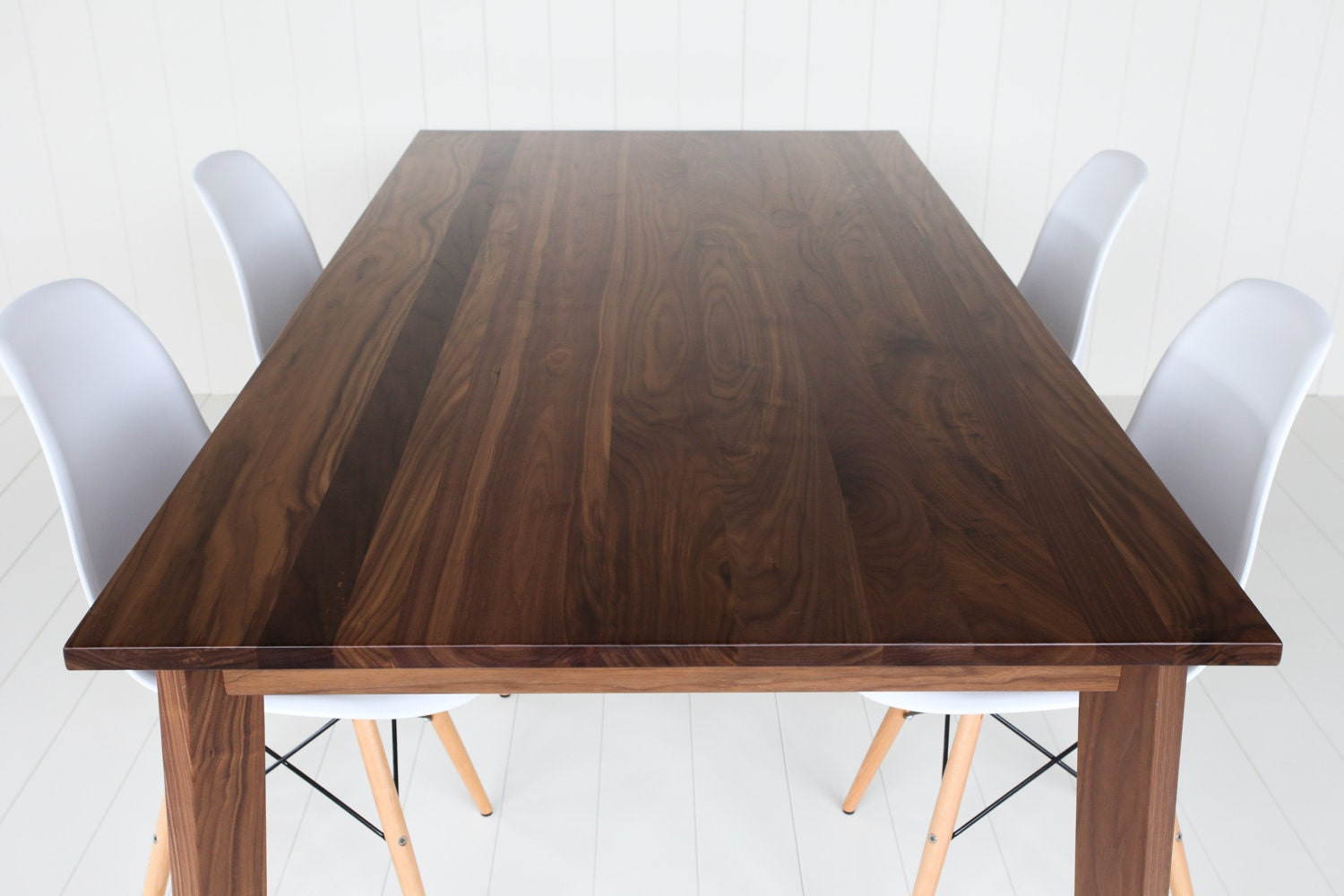 Sale modern solid walnut dining table 35 x 72 for Walnut dining table
