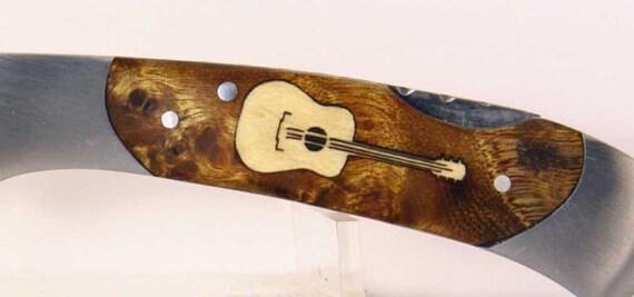Browning custom Guitar Inlay Pocket knife