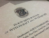SALE ---Hogwarts Acceptance Letter Customizable Harry Potter -- PARCHMENT PAPER