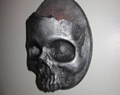 Haunting Gothic Skull Sconce Candle Holder-Dirty Steel Finish