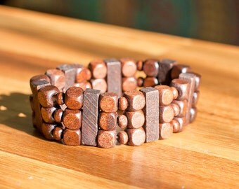 Slinky Bracelet Wood Beads