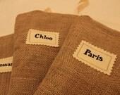 2 CUSTOM Burlap Christmas Stocking (SET OF 2) - Children Girl Boy - Rustic Shabby Chic - personalized stocking