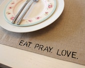 Linen Placemats - set of 4 - Shabby Chic Modern Country