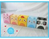 Favor Animal Boxes Set of 10