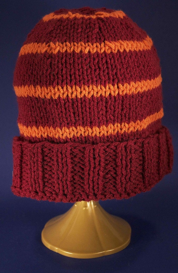 Stocking Cap (Customizable for ANY team or school) Hand Knit