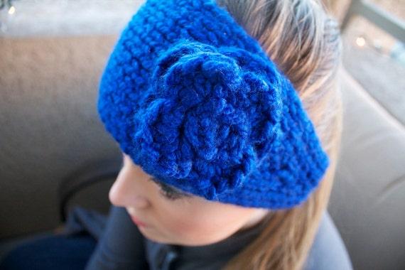 Headband/Ear Warmer w/ Flower - FLOWER CHILD