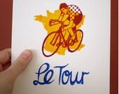 Le Tour De France Gocco Screen Print Limited Edition