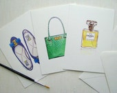iconic fashion - set of three note cards