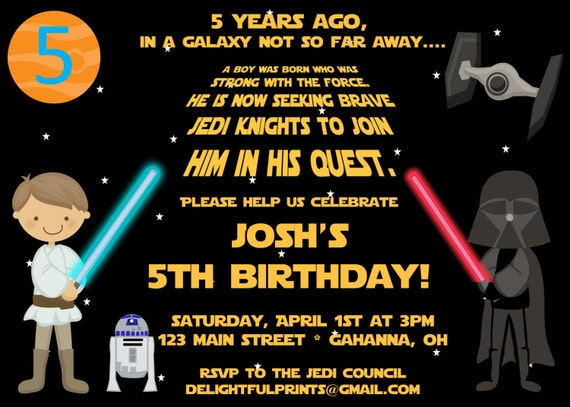 Gutsy image intended for star wars invitations printable