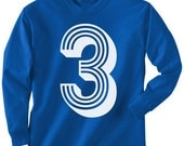 3rd Birthday ------KIDS T Shirt Long Sleeve----- ALL sizes-------- 2t, 3t, 4t, youth xs, yth sm, yth med, yth lg, yth xl ZC