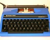 Vintage Typewriter  - working blue Silver-Reed