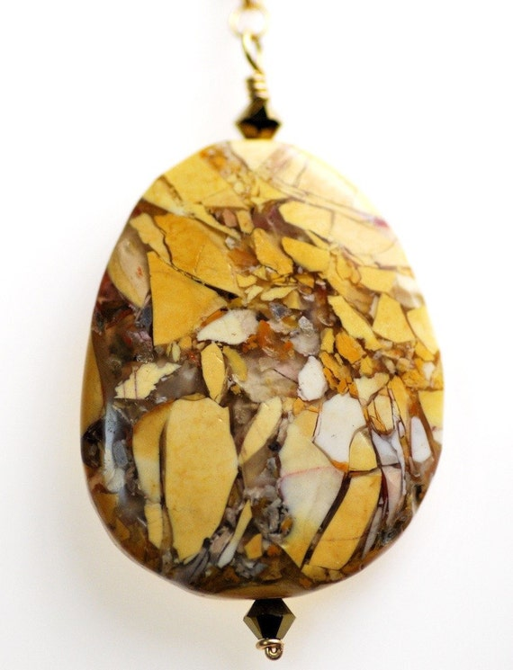 25% Off: 2-Sided Australian Brecciated Mookaite Pendant Necklace