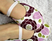 Womens Slippers - Purple and Green Moli-Jane Slippers