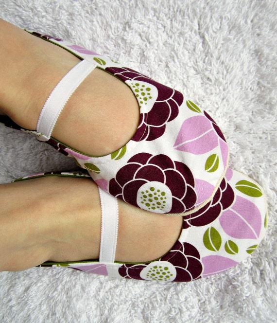 Womens Slippers - Purple and Green Moli-Jane Slippers