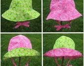 4 in 1 Sun Hat Pattern & Tutorial in 6 Sizes - PeekabooPatternShop